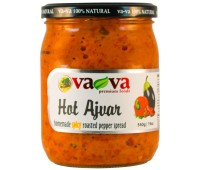 Ajvar Hot Roasted Pepper Spread Homemade Style VaVa 540g / 19oz