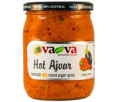 Ajvar Hot Roasted Pepper Spread Homemade Style VaVa 540g / 19oz