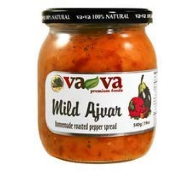 Ajvar Mild Roasted Pepper Spread Homemade Style VaVa 540g / 19oz