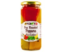 Fire Roasted Peppers Tri Color VaVa 490g / 17.3oz
