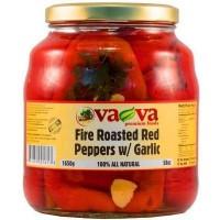 Печени червени чушки с чесън VaVa 1650г / 58oz