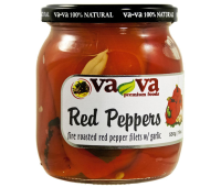 Fire Roasted Red Peppers with Garlic VaVa 550g / 19oz