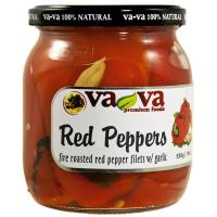 Печени червени чушки с чесън VaVa 550г / 19oz