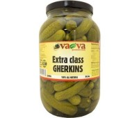 Gherkins - Extra Class Crunchy Baby Pickles VaVa 2400g / 84.6oz