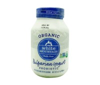 Non Fat Bulgarian Yogurt Organic Probiotic White Mountain 0.946l / 32oz