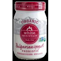 Whole Milk Bulgarian Yogurt Organic Probiotic White Mountain 0.47l / 16oz