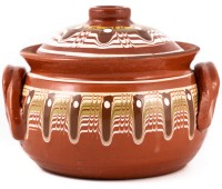Guvech Bulgarian Clay Pot for Cooking 5.5l