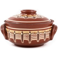 Gyuveche Bulgarian Clay Pot for Cooking 0.65l