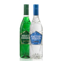 Mastika & Menta Peshtera Anise and Mint Flavored Liqueurs