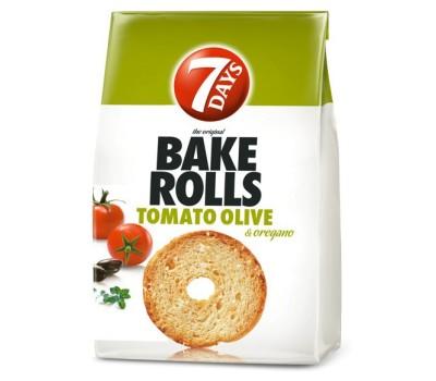 Bake Rolls 7Days Tomato - Olive 112g / 3.95oz