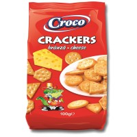 Солени бисквити крекер Croco сирене 100г