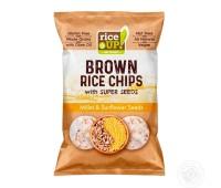 RiceUp! Чипс от кафяв пълнозърнест ориз със слънчогледови семки 120г