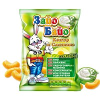 Snack Zayo Bayo Puffed Corn Sticks Cream And Dill 45g