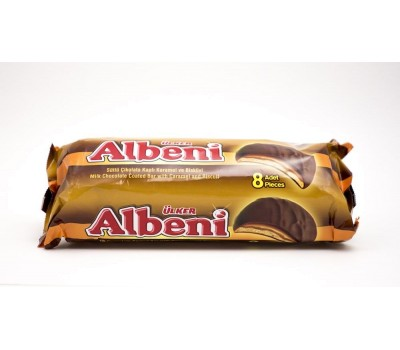 Albeni milk Chocolate Coated Bar with Caramel and BISCUIT
