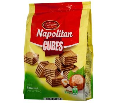 Napolitan Cube Wafers Hazelnut Vincinni 250g
