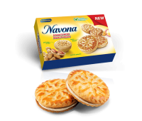 Navona Sandwich Biscuits with Peanut Cream 200g
