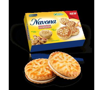 Navona Sandwich Biscuits with Peanut Cream 200g